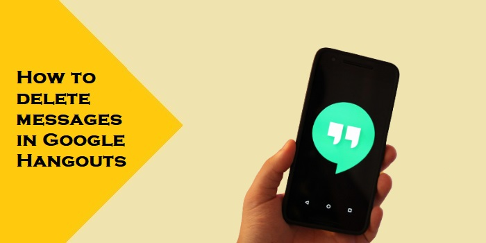 How to delete messages in Google Hangouts