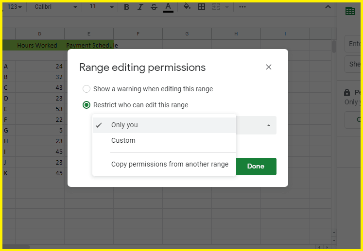 How To Lock Cells In Google Sheets