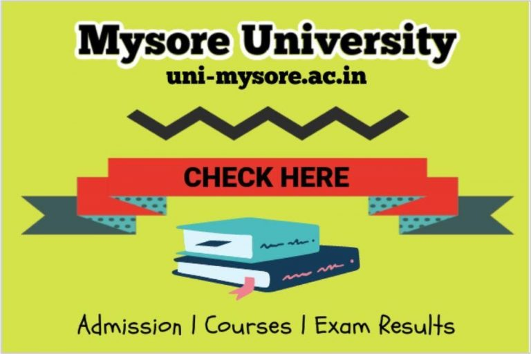 My UOM Mysore University   Admission   Results   Courses